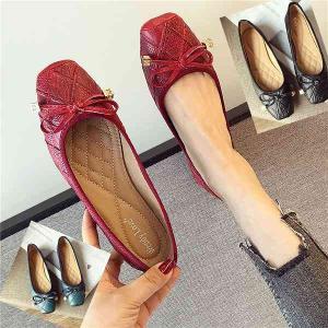 フラットシューズ パンプス リボン  レディース ぺたんこ ペタンコバレエシューズ レッド ブルー ブラック 靴 婦人靴 22.5cm〜24.5cm parismadam