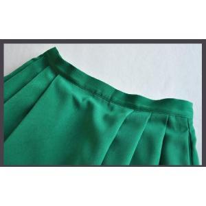 膝下スカート/グリーン/タック/ミモレ丈フレアスカート/通勤/XS〜XL|parismadam|05