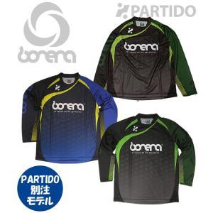 ボネーラ bonera セール (BNR-BEC001) PARTIDO別注  昇華モノグラムプラクティスシャツ フットサルウェア|partido