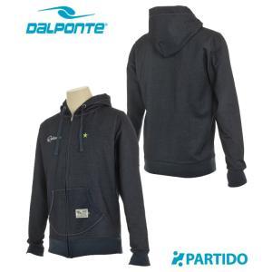 ダウポンチ DALPONTE セール (DPZ-RX07) デニムスウェット ZIP パーカー フットサルウェア|partido
