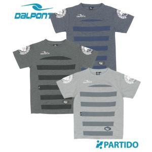 ダウポンチ DALPONTE セール (DPZ0198) ストライプスウェットTシャツ フットサルウェア|partido