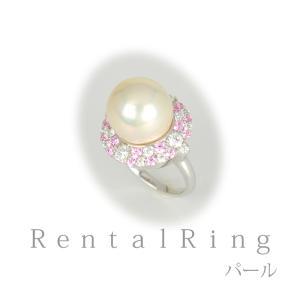 リングレンタル 4日間 あこや真珠12.9mm キュービックジルコニア 12号〜14号 004 往復送料無料 指輪|partners-rental