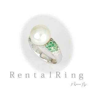 リングレンタル 4日間 あこや真珠 10.8mm キュービックジルコニア 11号〜13号 006 往復送料無料 指輪|partners-rental