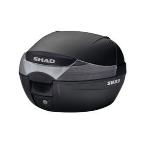 【期間限定!ポイント10倍実施中】SH33 リアボックス(トップケース) 無塗装ブラック SHAD(シャッド)