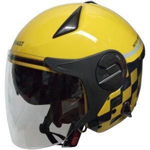 在庫5未満 ジェットタイプ RN-999W RN-999W ルノー Wシールドジェットヘルメット イエロー FS イエロー 1個 parts-department
