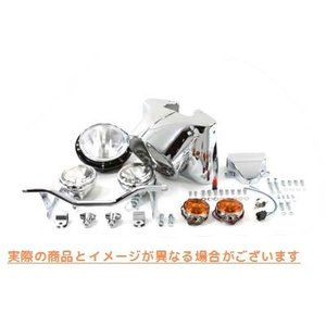 "【米国取寄せ】7"" Headlamp Cowl Kit, Chrome  V-TWIN 品番 24-..."