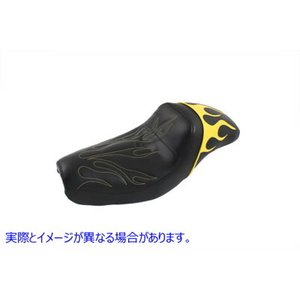 【米国取寄せ】Gunfighter Seat Yellow Flame Style  V-TWIN ...
