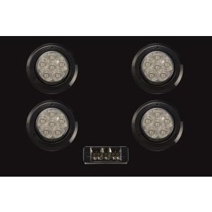 ジムニーに汎用 煌LEDテールキット[S] スモーク/ブラックリング+ハイフラ防止リレー parts-farm2