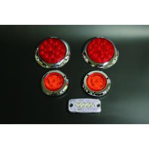 ジムニーに汎用LEDテールランプセット[L]メッキリング parts-farm2