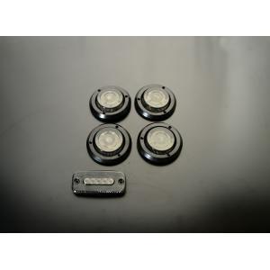 汎用LEDテールランプセット[S]スモーク・ブラックリング parts-farm2