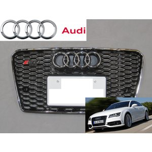 RS Style Front Quattro Emblem Grille Badge For Audi A4 A5 A6 A7 TT RS Q5 Q7 S3