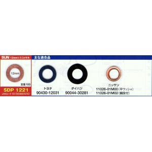 12mm オイルパンドレンボルトパッキン SDP−1221
