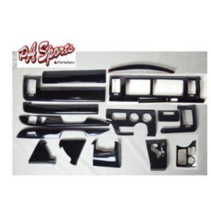 ハイエース 200系 4型/5型 ワイド DX インテリアパネル黒木目|partsaero