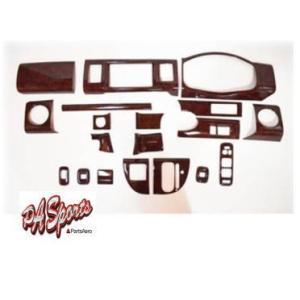 エブリイ ワゴン DA64 3Dインテリアパネルセット  茶木目19ピース|partsaero
