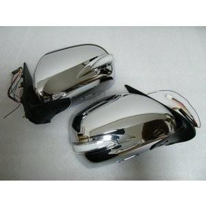 200系 ハイエース  標準、ワイド 1型〜4型 S-GL 全車  電動格納 LED ウィンカー付 フルメッキ ドアミラー partsaero