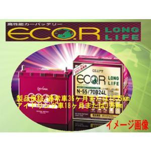 バッテリー(GS YUASA)ジーエス・ユアサ ECO.R(エコ.アール) ロングライフER-N-65/75B24L-EA|partsaero