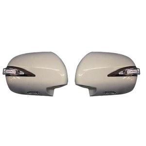 ミラーカバー ハイエース 200系 1-5型 レジアスエース サイド ドア 交換タイプ LED ファイバー 未塗装 素地 HIACE 左右 2個  ZERO|partsaero