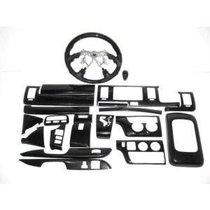 ハイエース200系 標準 1型2型3型 シルクウッド調内装インテリアパネル.ステアリング・シフトノブ3点セット partsaero