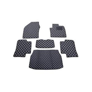 フロアマット C-HR NGX50 CHR ラゲッジマット ガソリン車用 ブラック グレーチェック柄...