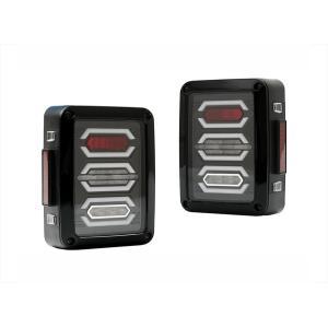 テールランプ ライト ジープ JEEP JK ラングラー 高輝度 LEDファイバー アヴェーンジャー スタイル 左右セット AP-A002LR|partsaero