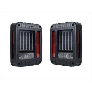 テールランプ ライト ジープ JEEP JK ラングラー バーチカル LED アクリル ブラック AP-A003LR|partsaero