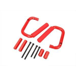 ジープ ラングラー JEEP WRANGLER グラブハンドル アシストグリップ フロント レッド AP-A006RD-F|partsaero