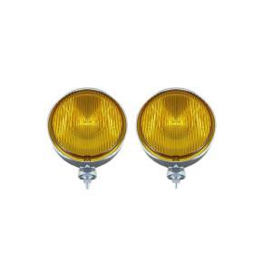 フォグランプ イェローレンズ 作業灯 黄 20φ 100W 24V ハロゲン H3 レトロ仕様 丸 メッキ 2個セット 汎用品 AP-D0001|partsaero