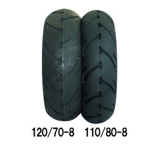 STEADY 8インチ ワイドタイヤ 4M-B77 (バナナ)  120/70-8 4M-B77-120|partsbox5