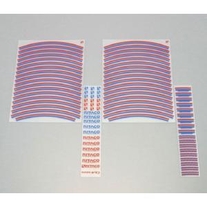 【○在庫あり→7月27日出荷】キタコ  リムラインテープ/レッド&ブルー 000-0900300|partsboxsj