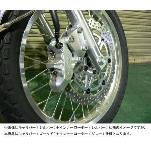 【お取寄せ】BEET W800/650/400用 Brembo ブレーキKIT/キャリパー(ゴールド)+インナーローター(グレー) 0671-KA9-GG 【送料無料】(北海道・沖縄除く)|partsboxsj