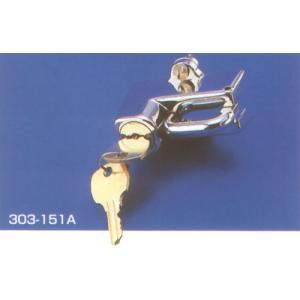 【○在庫あり→9月27日出荷】キジマ 19/22mmパイプ用 ヘルメットロック(メッキ) 303-151A|partsboxsj
