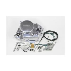 武川 エイプ50/100・XR50/100 モタード・CRF100F・XR100R  ダイカストクラッチカバー(バフクリア塗装) SP02-01-5123 partsboxsj