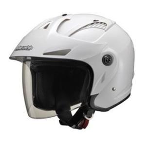 ジェットタイプ M-385 M-385 ツバ付ジェットヘルメット ホワイトメタリック フリーサイズ マルシン 本体:ホワイトメタリック シー...|partsdirect