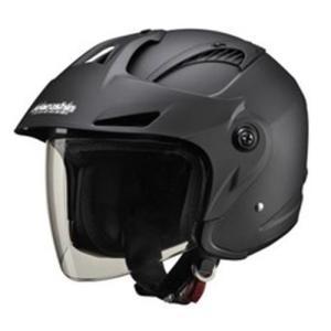 ジェットタイプ M-385 M-385 ツバ付ジェットヘルメット マットブラック フリーサイズ マルシン 本体:マットブラック シールド:ク...|partsdirect