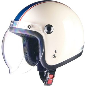 ジェットタイプ BC-10 BARTON BC-10 ジェットヘルメット アイボリー×ネイビー リード工業 アイボリー/ネイビー 1個|partsdirect