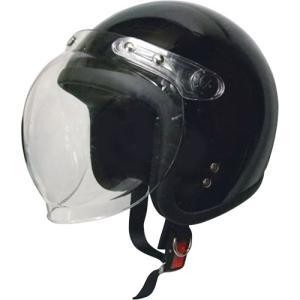 ジェットタイプヘルメット シールド付 ブラック モトボワットBB