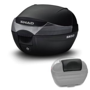 【セット売り】SH33 トップケース ブラック バックレスト セット