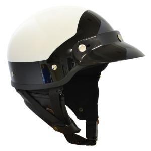 取寄 ハーフ MP-110WH ポリススタイル MS-340 ハーフヘルメット フリー ホワイト/ブラック マルシン ホワイト/ブラック 1...|partsdirect