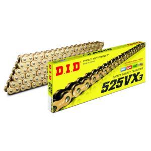 DID(大同工業) バイク チェーン 525VX3 114L ゴールド カシメジョイント 525VX3-114L-G&GZB|パーツダイレクトPayPayモール店