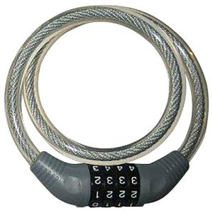J&C 可変式ダイヤル錠 JC-001W クリア メーカー品番:JC-001W 1個