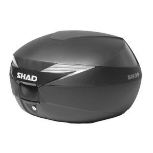 SHAD リアボックス 39L 無塗装ブラック SH39BK 1個 大容量 シャッド トップケース スペインブランド|partsdirect