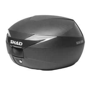 SH39 リアボックス(トップケース) 無塗装ブラック SHAD