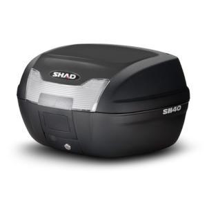 SH40 リアボックス(トップケース) 無塗装ブラック SHAD