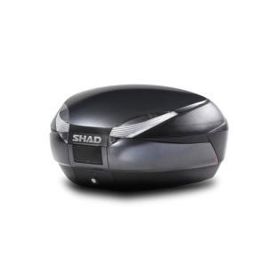 送料無料 SHAD リアボックス 48L ダークグレー SH48GR 1個 大容量 シャッド トップケース スペインブランド|partsdirect