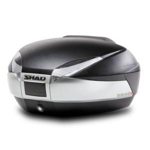 送料無料 SHAD リアボックス 48L チタニウム SH48TI 1個 大容量 シャッド トップケース スペインブランド|partsdirect