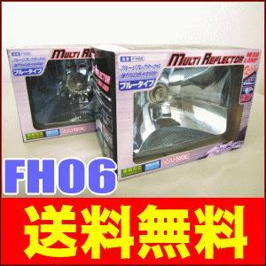 タコマ(前期型角目) レイブリック シールドビーム マルチリフレクター ヘッドランプ(ヘッドライト) FH06 (角型/ブルータイプ) 2個セット|partsking