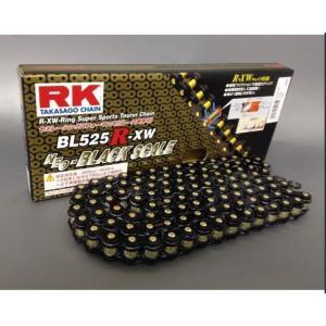 RKチェ−ン BL525R-XW-110 ブラック 525-110|partsline24