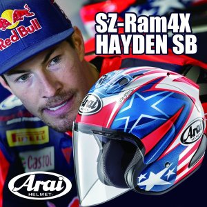 Arai SZ-RAM4X HAYDEN SB(ヘイデン SB) オープンフェイスヘルメット|partsonline