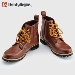 HenlyBegins(ヘンリービギンズ) ライディング・ショートブーツ(ブラウン) HBS-003|partsonline