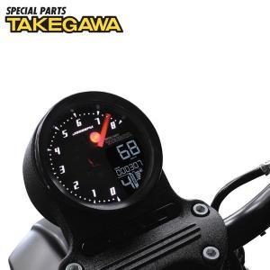デジタル表示のスピードメーターとアナログ表示のタコメーターを組み合わせたメーターです。サイズ・取り付...